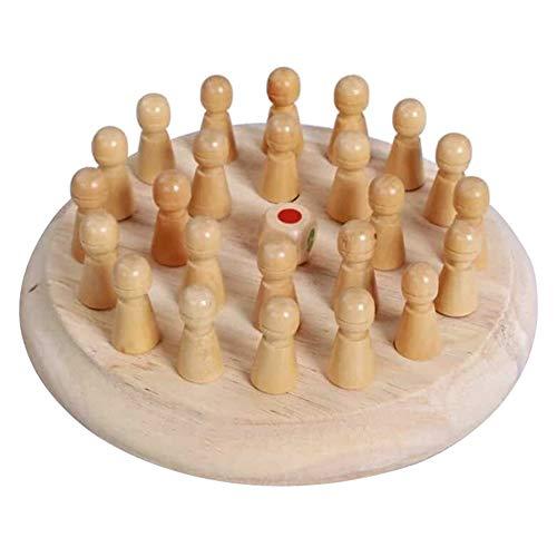 Aemiy Kinder Holz Memory Match Stick Schachspiel Lernspielzeug Eltern-Kind-Interaktion Spielzeug