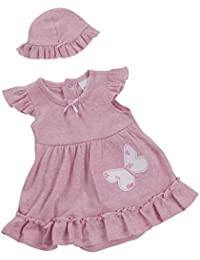 586bfe22a BABY TOWN Baby Girls Babytown Summer Dress with Built in Body Suit and  Floppy Hat Dusky