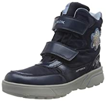 Geox J SVEGGEN Girl B ABX, Snow Boot Fille, Blue (Navy/Sky), 28 EU