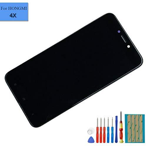 E-yiiviil New LCD Display Bildschirm Digitizer kompatibel mit Xiaomi Redmi 4X Display Glas Touchscreen 5.0 Zoll Reparatur + Rahmen Schwarz - 4 X Lcd-display