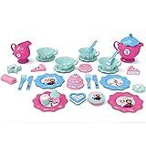 #1018 Disney Frozen großes Geschirrset mit Geschirr, Teekanne, Gebäck und Zubehör • Puppengeschirr Puppenservice Tee Geschirr Kinderküche Spielküche Kinder Spielzeug Set
