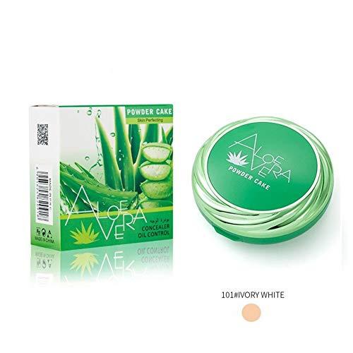 Allouli Aloe Vera Matte Compact Powder Long-lasting Waterproof Makeup Oil Control Concealer Pressed Powder -