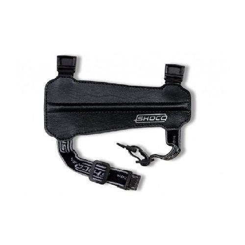 New Shocq Archery Junior Black Arm Guard PU Leather Elasticated Adjustable Test