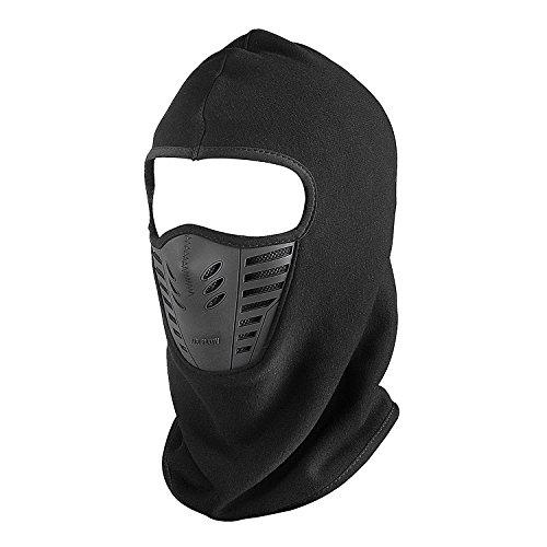 kimaske Gesichtshaube Motorradmaske Gesichtsmaske optimal Windschutz Kälteschutz Ohrenschutz für Skifahren Motorradfahren Radfahren (Schwarz) (Maske Zu Verkaufen)