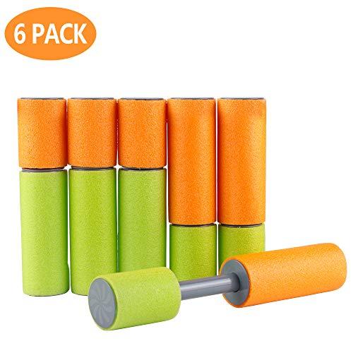 MEckily 6 Stück Wasserpistole für Kinder Wasserspritzpistole Wasserpistole Wasserspritze Schaumstoff Spritzpistole für Kinder als Mitgebsel
