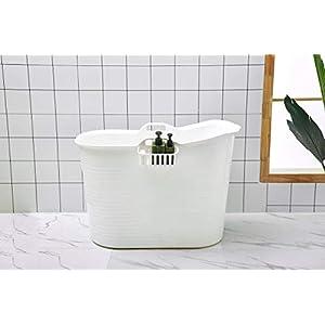 Schwänlein® Mobile Badewanne, Ideal für das kleines Badezimmer, 92x51x63cm, Stylisch und Stimmungsvoll (Weiß)