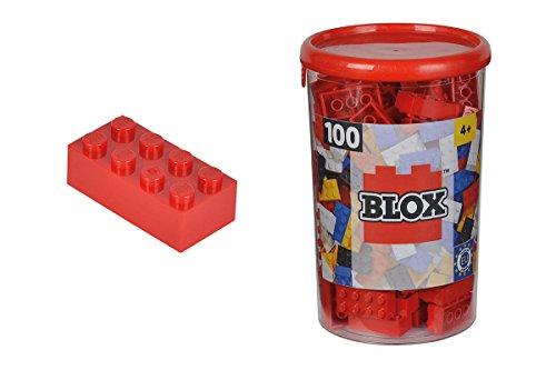 Blox - Bote de 100 Bloques, Color Rojo (Simba 4118905)