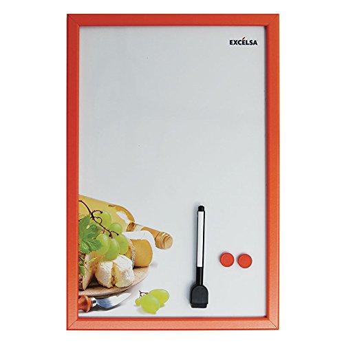 excelsa-tableau-magnetique-decore-dun-plateau-de-fromage-metal-blanc-orange