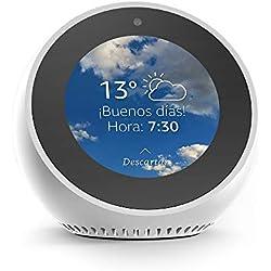 1 de Amazon Echo Spot - Altavoz inteligente con pantalla que se conecta a Alexa, blanco
