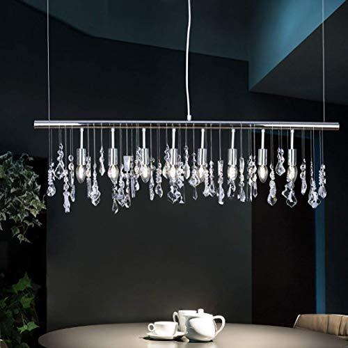 Cristallo Luce pendente Moderno Contemporaneo Cromo Metallo lampadari Plafoniera per Sala da pranzo Studia Ufficio Attività commerciale