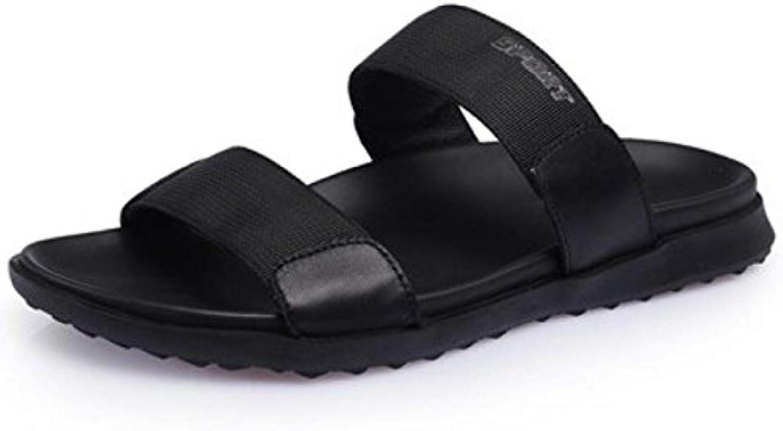 Zapatillas Frescas Zapatillas De Playa De Cuero De Los Hombres De Verano Zapatillas De Palabra Casuales