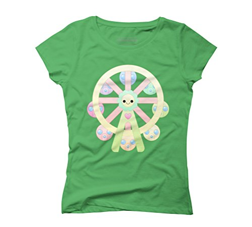 kawaii ferris wheel Women's Graphic T-Shirt - Design By Humans Green