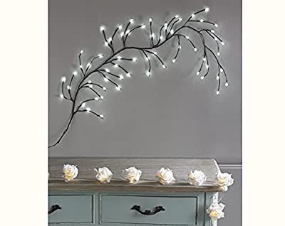 Striking 64 White LED Wall Branch Lights Stunning Shabby Chic Lighting Decoration