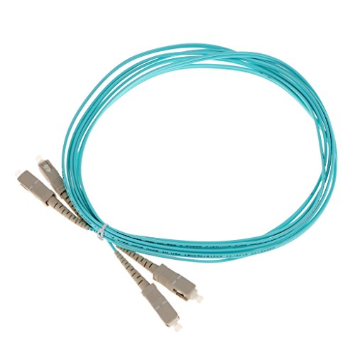 125-duplex-faser-jumper-kabel (MagiDeal Multimode Duplex 10GB Faser Optisch Patchkabel (50/125) Double Core Glasfaserkabel SC-SC OM550 - Himmelblau 3M)