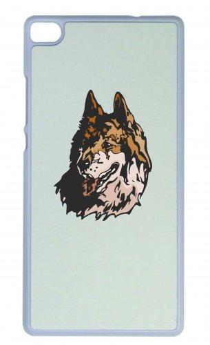 Smartphone Case testa di lupo Lupo Branco di lupi animali Luna piena Notte Lupi per Apple Iphone 4/4S, 5/5S, 5C, 6/6S, 7& Samsung Galaxy S4, S5, S6, S6Edge, S7, S7Edge Huawei HTC-