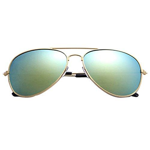 URSING Flieger Sonnenbrille Männer und Frauen, Unisex Metallrahmen Glasobjektiv Sonnenbrille Klassische Pilotenbrille Metall Designer Sonnenbrille Trendy Brillenmode Damenmode Chic Sunglasses (D)
