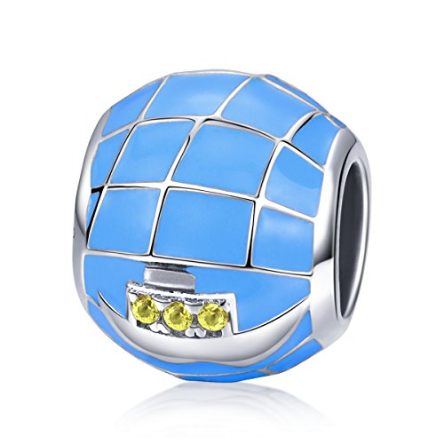 Blue Ocean und Segelboote 925Sterling Silber Charme Perlen für Frauen Girl Boy Fit bracklets Best Geschenke Schmuck