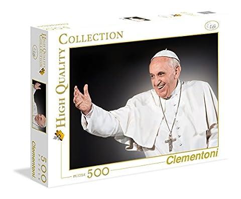 Clementoni 35007.0 - 500 T High Quality Collection, Papst Franziskus, Klassische Puzzle (Bilder Papst Franziskus)
