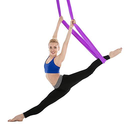 Lixada Hamaca de Yoga Aérea 5m x 2.8m Durable Swing de Yoga para Ejercicios de Inversión de Yoga Antigravedad