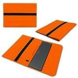 Sleeve Hülle für Medion Akoya Akoya S4401 Convertible Schutzhülle Filz Tasche Laptop Cover Notebook Case 14 Zoll, Farbe:Orange