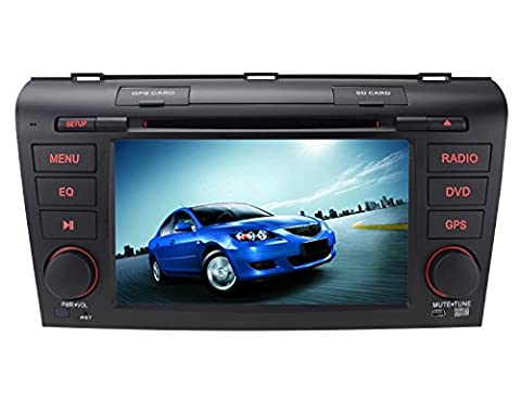 7 inch Double Din In Dash HD Touch Screen Car DVD Player GPS Navigation Stereo For Mazda 3 2004-2009 Support Navi/Bluetooth/SD/USB/FM/AM Radio