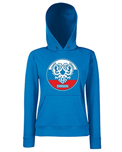 T-Shirtshock - Sweats a capuche Femme WC0546 RUSSIA T-SHIRT - SBORNAYA Bleu Royal