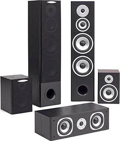 Quadral Quintas 5000 II 5.0 Lautsprecher-System schwarz (Quadral Boxen)