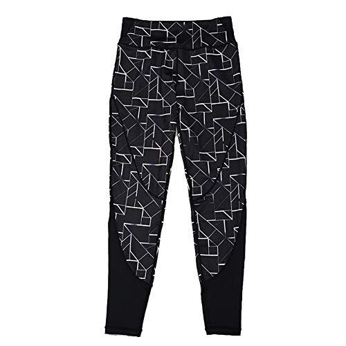 Feidaeu Pantalones de Mujer Impreso Medias de Cintura Alta Elástico y