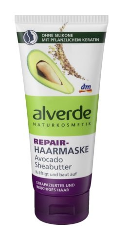 Alverde Repair Hair-Mask Avocado & Shea-Butter (Vegan) - 100 ml by Alverde Natural Cosmetic Shea Butter Hair Mask