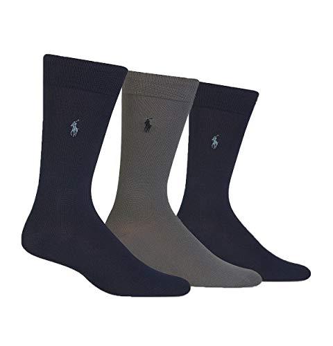 Ralph Lauren - Super weich Socken (Größe 39-45) - Marine und Grau (Ralph Für Männer Lauren-socken)