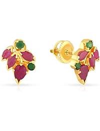 Malabar Gold & Diamonds 22KT Yellow Gold Stud Earrings for Women