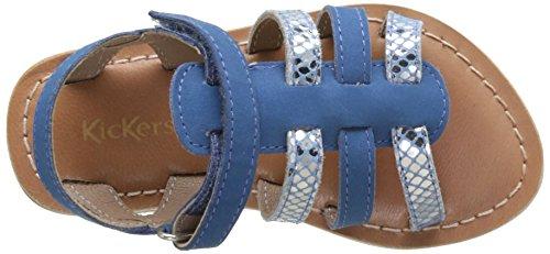 Kickers Fosco, Sandales Bout Ouvert Fille Bleu (Bleu)