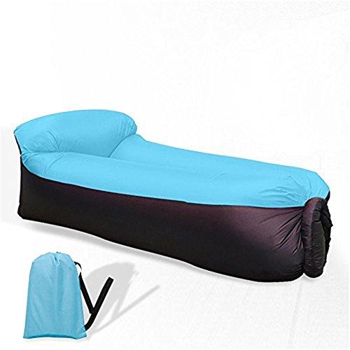 BeIM Hamac Gonflable Portatif Pliable avec Un Petit Sac Air Sofa Imperméable (Bleu)