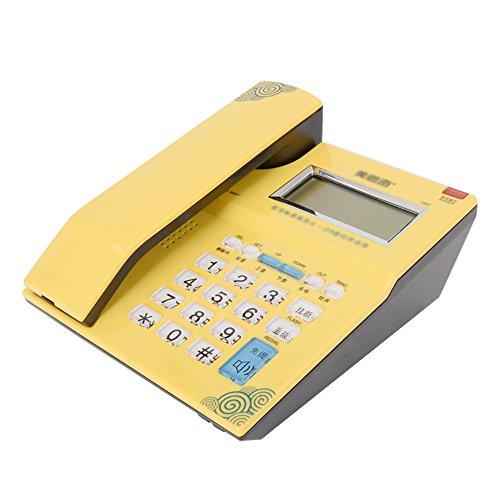Telefon Anrufbeantworter Telefon zu Hause. Größe: 160 * 150 * 50 (mm). Farbe: weiß, gelb (Farbe : Gelb) - Anrufbeantworter
