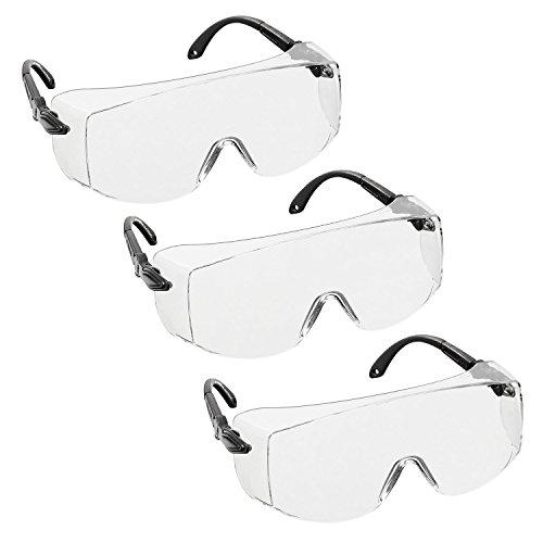 6d20d711b6 3 x voltX 'OVERSPECS' Sobremontura para Gafas de Seguridad Industrial  (Lentes Transparentes)