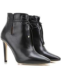 Jimmy Choo botas de tacón alto tobillo de cuero negro - Número de modelo: MURPHY SLY 164