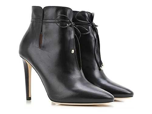 Jimmy-Choo-High-Heels-Ankle-Boots-Black-Leather-Model-Number-Murphy-Sly-164