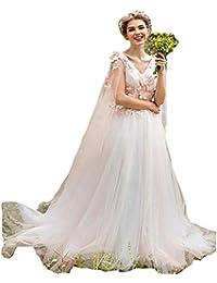 0a25a6ad6b91 HotGirls Abito elegante ragazza fiore per matrimonio pizzo appliques perle  manica lunga · EUR 79