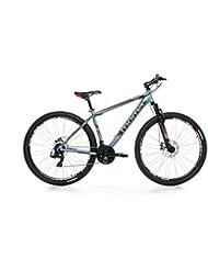 """Moma - Bicicleta Montaña Mountainbike 29"""" BTT SHIMANO, aluminio, doble disco y suspensión, XL (1,85-2,00m)"""
