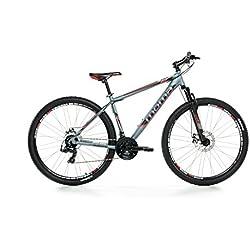 "Moma - Bicicleta Montaña Mountainbike 29"" BTT SHIMANO, aluminio, doble disco y suspensión, L (1,75-1,84m)"