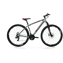 "Moma Bikes Bicicleta Montaña Mountainbike 29"" BTT SHIMANO 24 vel. Aluminio, frenos de disco y suspension, L (1,75-1,84m)"