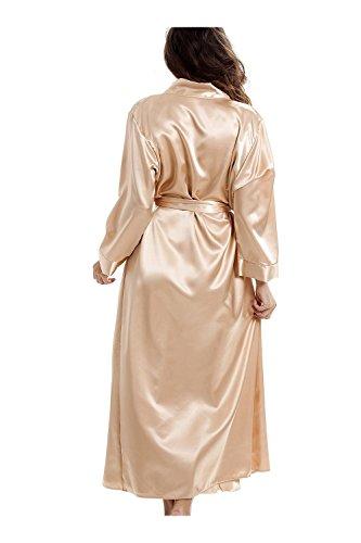 Camille - vestaglia a kimono deluxe in raso - oro Oro