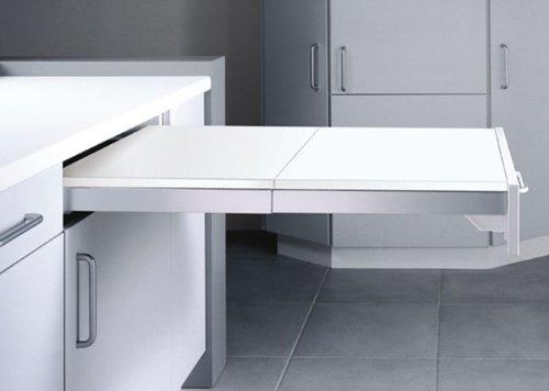 TOPFLEX Auszieh-Tisch Beschlag mit Platte (Ordnungssysteme Zubehör Unterschränke)