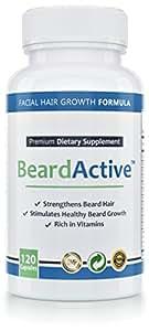 Beard Active™ – Bartwuchsmittel | 120 Kapseln hochdosiert | MADE IN GERMANY | Bartwachstum anregen, fördern, beschleunigen | Für schönen, dichten Bartwuchs