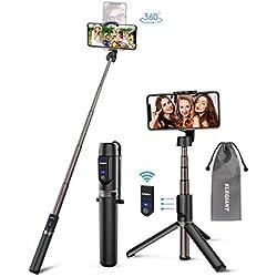 ELEGIANT Perche Selfie, Selfie Stick Bluetooth en Alliage d'Aluminium 3 en 1 Trépied Monopode avec Télécommande Bâton de Selfie Télescopique Support Téléphone pour iOS Android