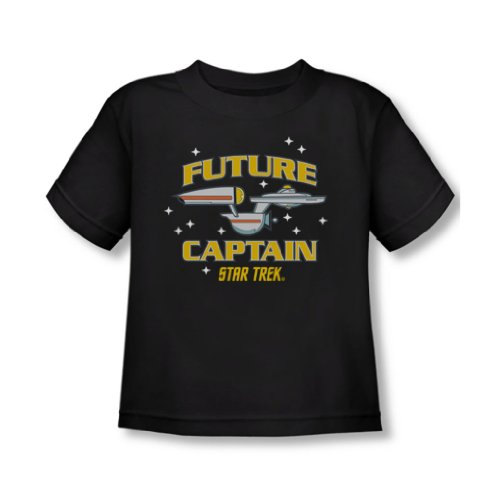 Star Trek - - Tout-petit Captain Future T-shirt In Black, 2T, Black