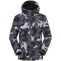 Men's Waterproof Ski Jacket Warm Winter Snow Coat Mountain Windbreaker Hooded Raincoat,Gray,Large