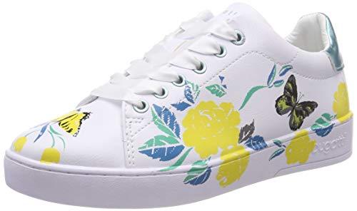 bugatti Damen 431291145959 Sneaker, Mehrfarbig (White/Yellow 2050), 40 EU