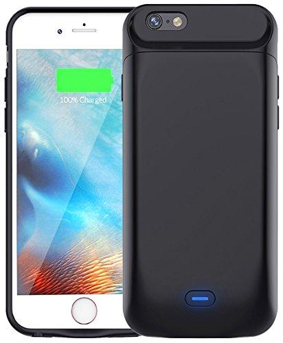 Bovon - Funda Batería para iPhone 6 Plus/6S Plus, 7200mAh Batería Externa, Protector Estuche de Carga (5.5 Inch), Negro
