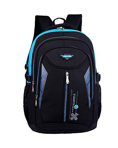Imagen de  escolar impermeable  bolsa escolar casual  de colegio azul